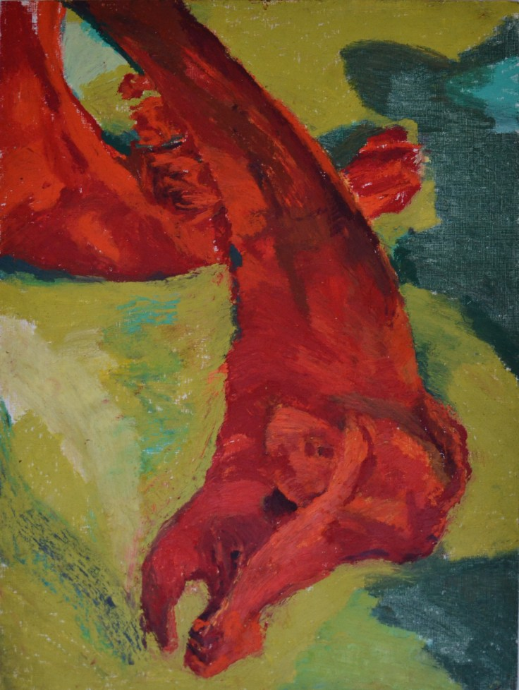 """""""A dragon, in death her jaws became"""", 2012 Oil pastel on paper 30.5x40.5cm"""