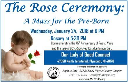 The Rose Ceremony A Mass for the Preborn