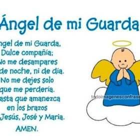 imágenes con frases oracion al angel de la guarda