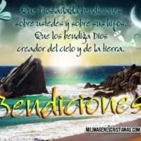 Imágenes Cristianas para desear bendiciones