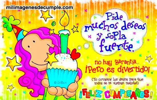 imágenes de cumpleaños con dibujitos y frases