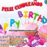 Imágenes de feliz cumpleaños con frase de buenos deseos