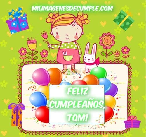 imágenes de feliz cumpleaños tqm con muñequita