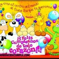 Imágenes de cumple: Feliz cumpleaños de todo corazón