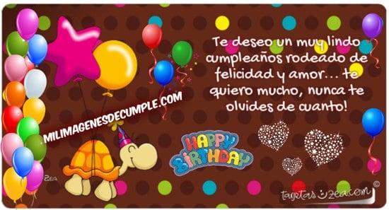 imágenes de cumpleaños con dibujitos y mensaje para regalar