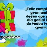 Imágenes de cumpleaños: ¡Feliz cumpleaños mi gran amigo!