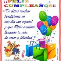 Imágenes de feliz cumpleaños: Te deseo muchas bendiciones
