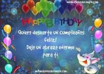 Quiero desearte un cumpleaños feliz!