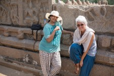 PRETTY PREETHI & ME at MAHABALIPURAM TEMPLE