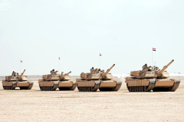 "Egyptian Army M1A1 MBTs during ""Northern Thunder"""