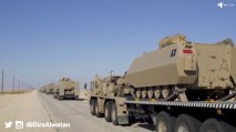 "BDF SLT 50-2 tank transporters carrying M113A2 Carat and AIFV-B-C25 IFVs heading for ""Northern Thunder"""