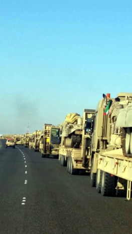 "Kuwait Army Mercedes Actros Titan 4060 tank transporters heading for ""NorthernThunder"""