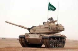 "Royal Saudi Land Force M60A3 MBTs during ""Northern Thunder"""