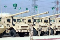 "Saudi Arabian National Guard CAESAR self-propelled howitzers during ""Northern Thunder"""