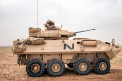 "A Saudi Arabian National Guard LAV II during ""Northen Thunder"""