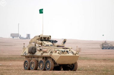 "A Saudi Arabian National Guard LAV II AT during ""Northen Thunder"""