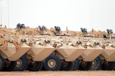 "Saudi Arabian National Guard LAV II Command during ""Northen Thunder"""