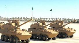 "Saudi Arabian National Guard LAV II 90mm during ""Northen Thunder"""