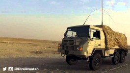 "A Saudi Arabian National Guard Pinzgauer 716M truck during ""Northern Thunder"""