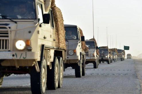 "Saudi Arabian National Guard Pinzgauer 716M & 718K trucks during ""Northern Thunder"""