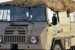 "A Saudi Arabian National Guard Pinzgauer 718K truck during ""Northern Thunder"""