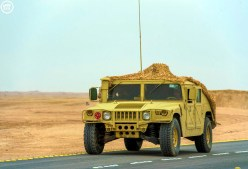 "A Royal Saudi Land Force M1025A2 during ""Northern Thunder"""
