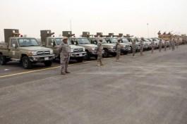"Royal Saudi Border Guards Toyota Land Cruiser HZJ79s during ""Northern Thunder"""