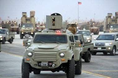 """a Royal Saudi Border Guards Gurkha RPV during """"Northern Thunder"""""""