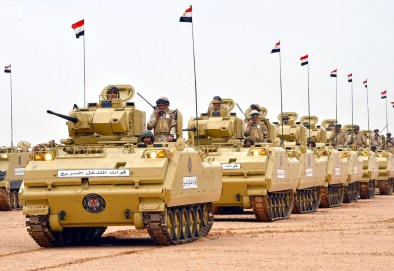 "Egyptian Army YPR-765 PRI IFVs during ""Northern Thunder"""