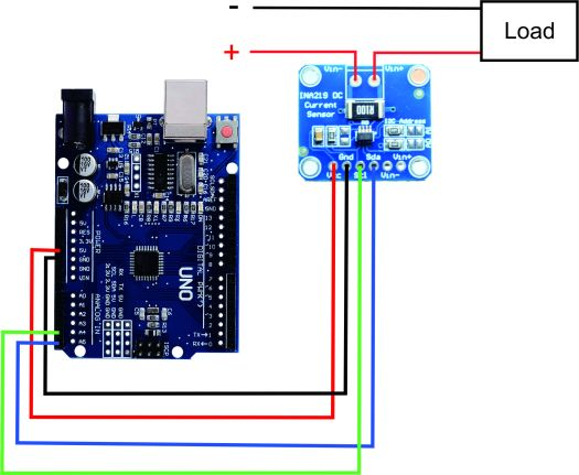 INA219 current sensor wiring with arduino