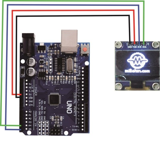 i2c OLED 128x64 arduino wiring diagram