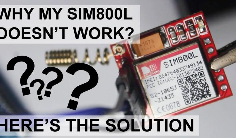 SIM800L troubleshooting guide
