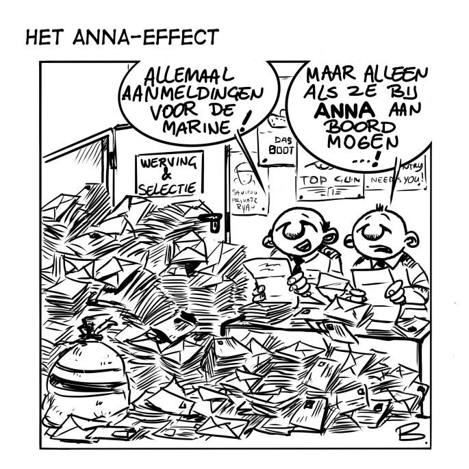 26 Cartoon Het Anna-effect (c) Henk Boomstra, www.marineschepen.nl
