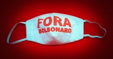 Máscara Fora Bolsonaro