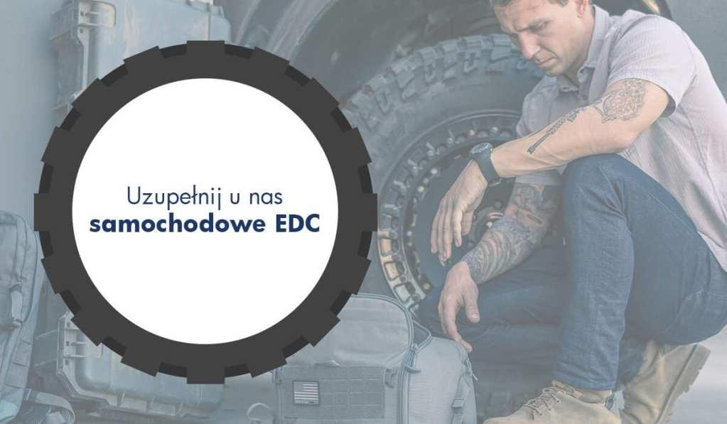infografika samochodowe EDC - co zapakować do samochodu