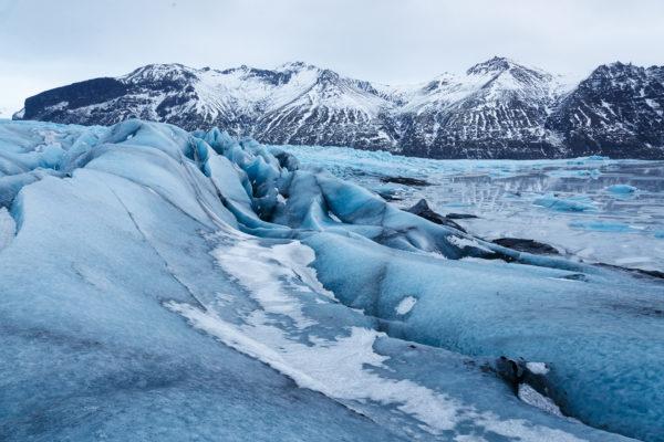 lodowiec na terenie Parku Narodowego Skaftafell