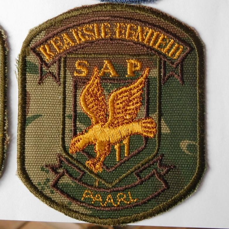 SAP South Africa Police 11 Reaction Unit PAARL Arm Cloth Badge CAMO