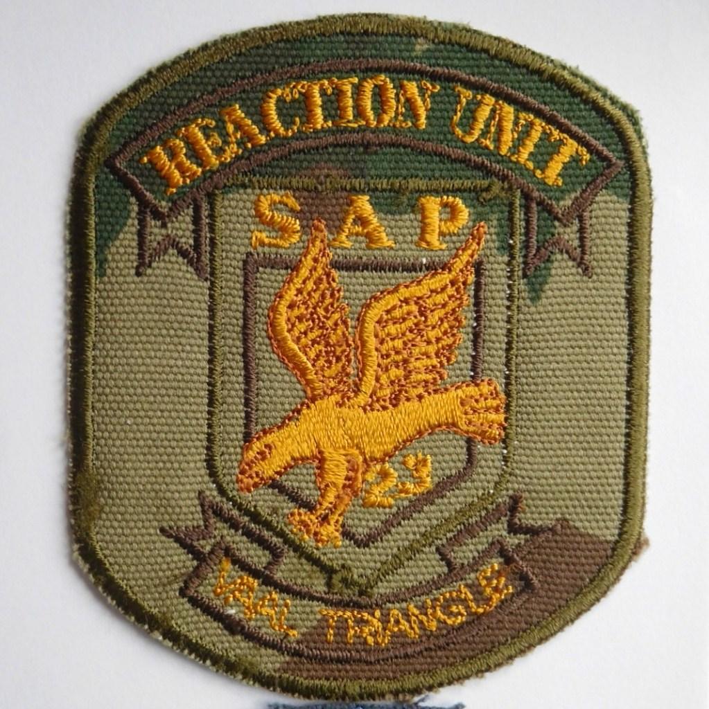 SAP South Africa Police 23 Reaction Unit VAAL TRIANGLE Arm Cloth Badge CAMO