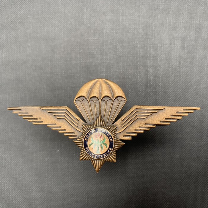SOUTH AFRICA POLICE AIRBORNE PARACHUTE SWAT SAP PARA WING Task Force steel bronze