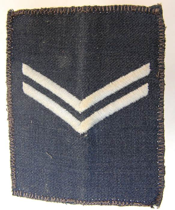 1985 Rhodesian Air Force Corporal Aircraftsman rank Badge Patch Rhodesia Africa