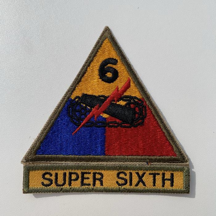 US United States SUPER SIXTH Armoured Centre ARMY Kentucky Cloth Badge Patch