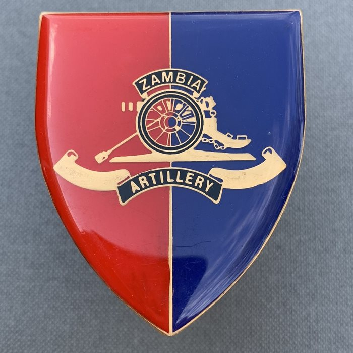 ZAMBIA Africa ArtilleryARM Shoulder Enamel Flash Badge