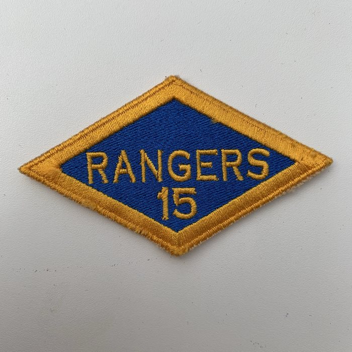 US United States WW2 15th Rangers Battalion ARMY Shoulder Diamond Badge Patch