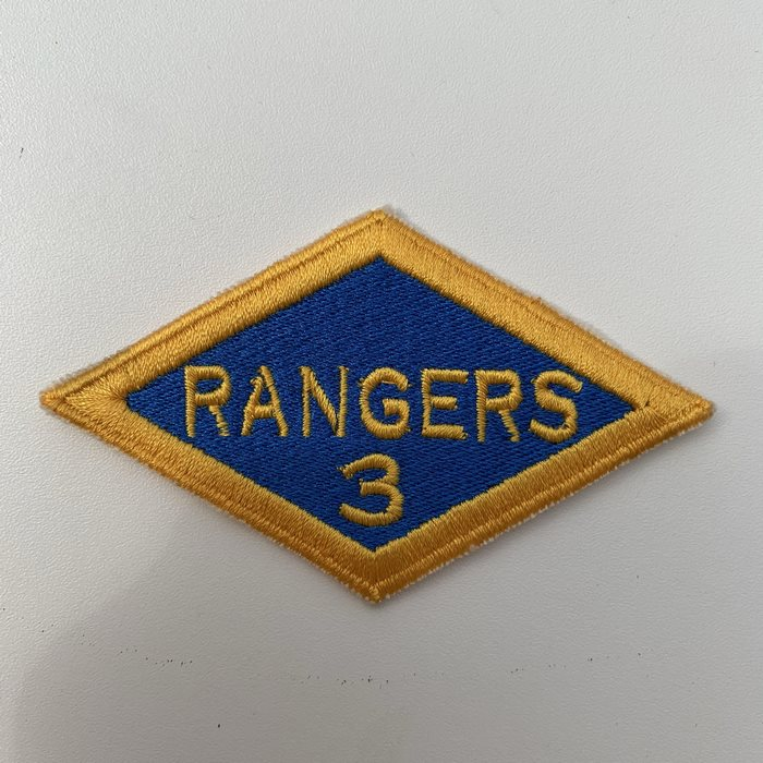 US United States WW2 3 Rangers Battalion ARMY Shoulder Diamond Badge Patch