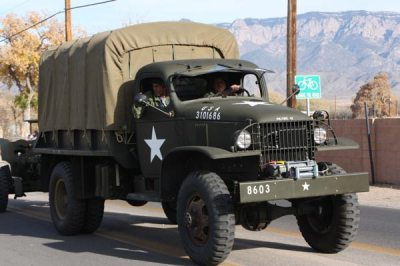 Military truck in parade