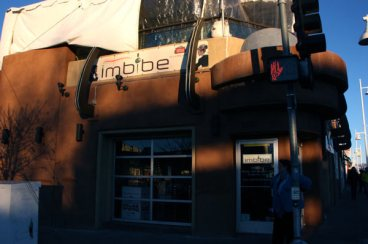 Front of Imbibe bar