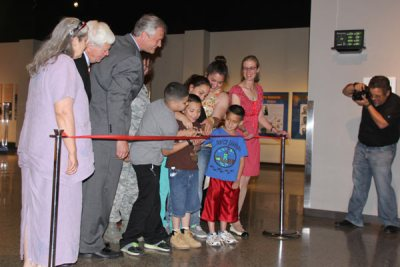Ribbon Cutting with Adults and Children Sacrifice & Service 2014