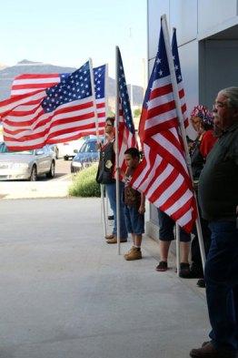 Flag line Sacrifice & Service 2014