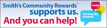 Smiths Community Rewards button