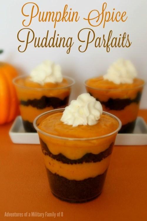 Pumpkin Spice Pudding Parfaits